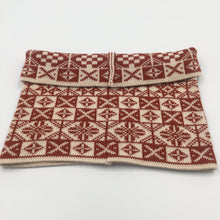 Load image into Gallery viewer, Red and white saltire Merino wool Fair Isle Cowl
