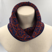 Load image into Gallery viewer, Luxury Fair Isle Infinity scarf or neck cowl