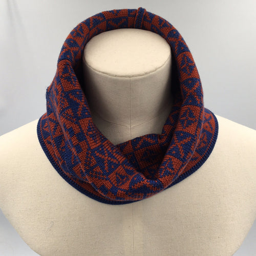 Luxury Fair Isle Infinity scarf or neck cowl
