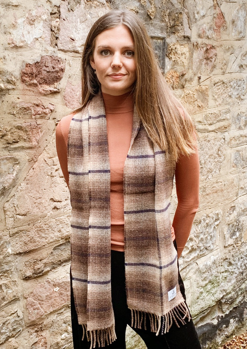 Scottish whisky scarf, pure lambswool