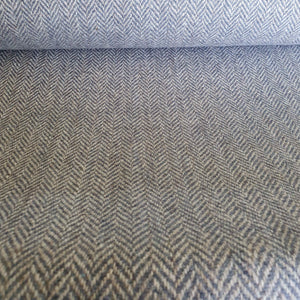 Ice Maple/Rabbit Grey Herringbone Harris Tweed