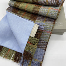 Load image into Gallery viewer, Macleod of Harris Scarf and Mask Set, Blue Cashmere