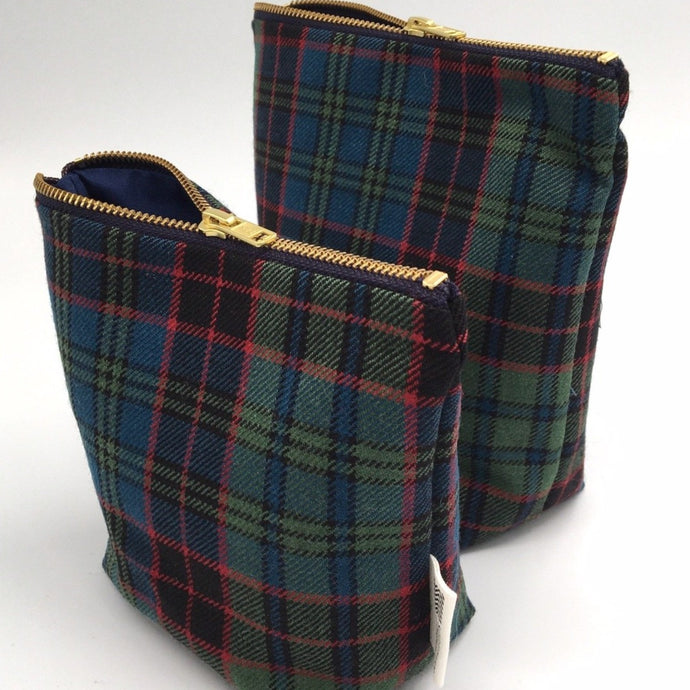 Stewart Tartan Make Up bags