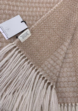 Load image into Gallery viewer, Luxury throw for the home, undyed British Alpaca, woven in Scotland.