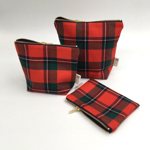 Sinclair red tartan bags and purse