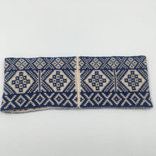 Load image into Gallery viewer, Headband, Fair Isle Blue and White, thick