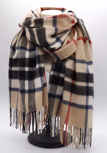 Thomson Camel Cashmere Stole Made in Scotland
