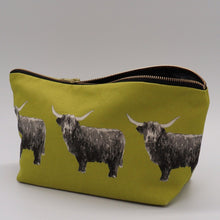 Load image into Gallery viewer, highland cow wash bag, citrus