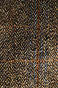 Cora coat Harris Tweed detail