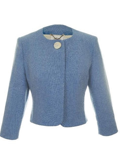 Harris Tweed Ella Jacket Sky Blue
