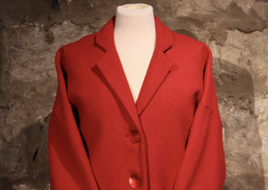 Harris Tweed Fiona Coat in Red