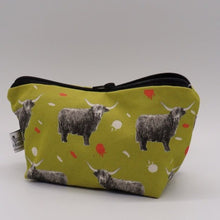 Load image into Gallery viewer, Highland Cow Make Up Bag, Citrus