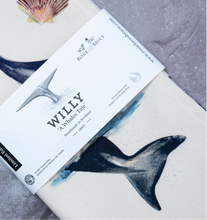 Load image into Gallery viewer, Willy Whale Tea Towel