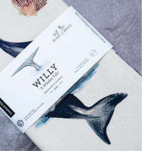 Willy Whale Tea Towel