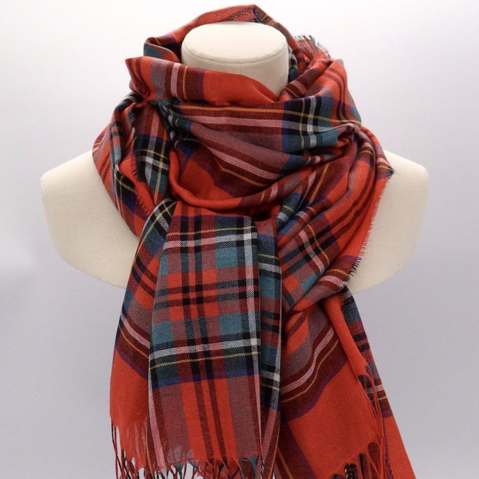 Royal Stewart Modern wool silk mix scarf
