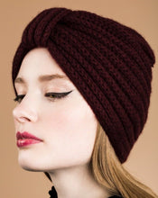 Load image into Gallery viewer, Cashmere Turban, Damson