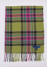 Load image into Gallery viewer, Royal Stewart Tartan Scarf, Wasabi Green