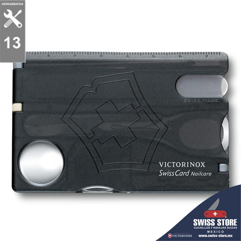Victorinox Swiss Card Nail Care Negra