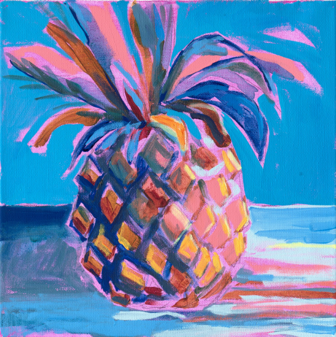 Cerulean Blue Pineapple