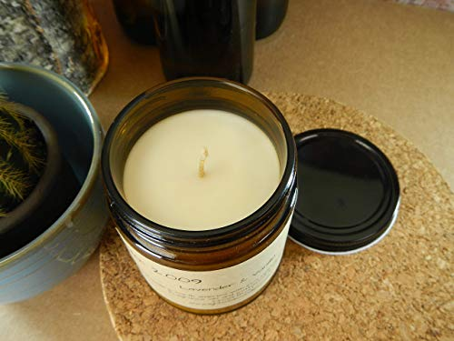 Vanilla Lavender Scented Soy Candle
