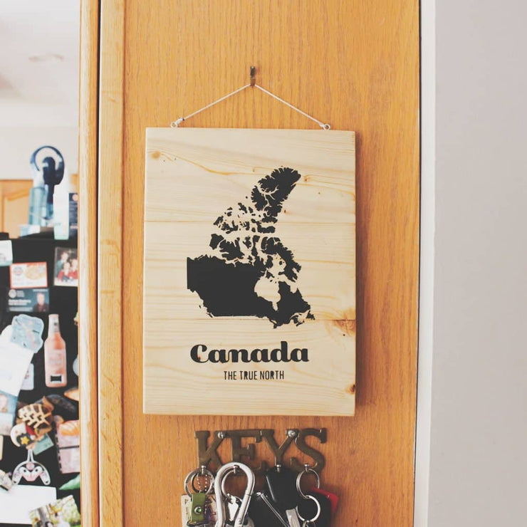 Map of Canada Wood Wall Sign