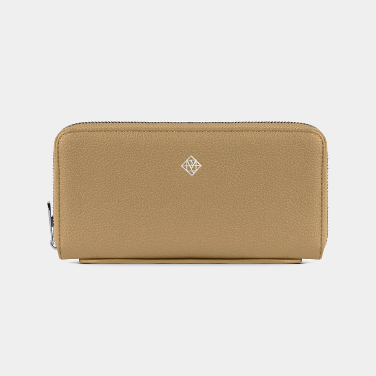 Meli Vegan Leather Wallet- Sand