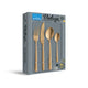 Amefa Manille Stainless Steel Cutlery, 16-Pieces, Gold