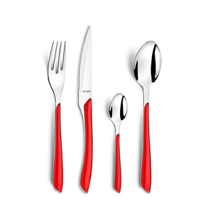 Amefa Eclat Cutlery Gift Box, Set of 24 - Red