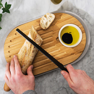 BergHOFF Leo Bamboo Cutting Board With Tray