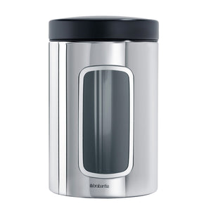 Brabantia Brilliant Steel Window Food Containers, 1.4 litre