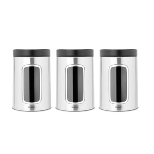 Brabantia Window Canister, Set of 3,  1.4 litre