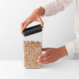 Brabantia Square Food Storage Canister, 1.6 litre