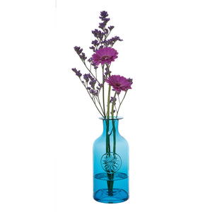 Dartington Crystal Daisy Turquoise Flower Vase