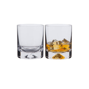 Dartington Dimple Old Fashioned 250 ml Whisky Glass, Set of 2