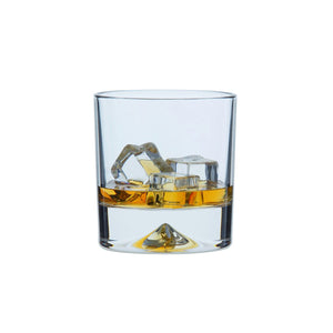 Dartington Dimple Double Old Fashioned 285ml Whisky Glass, Set of 2