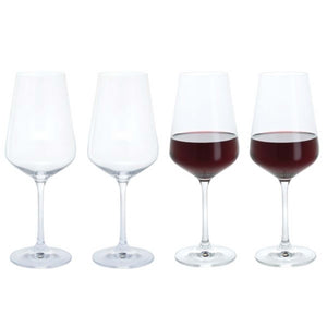 Dartington Crystal Cheers Red Wine Glass, Set of 4
