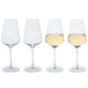 Dartington Crystal Cheers White Wine Glass, Set of 4