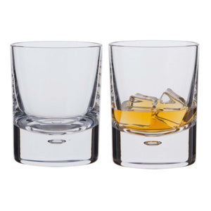 Dartington Crystal Exmoor Old Fashioned Whisky Glass, Set of 2