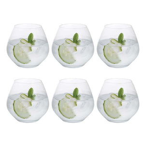 Dartington Crystal Stemless Glass, Set of 6