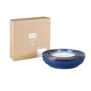 Denby Blue Haze Nesting Bowl, Set of 4