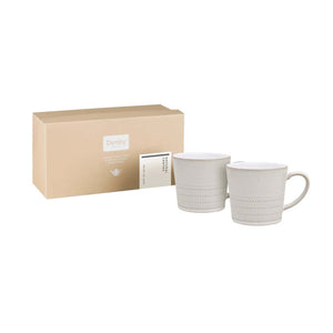 Denby Natural Canvas Textured Mugs, Set of 2