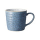 Denby Studio Blue Flint & Chalk Ridged Mug