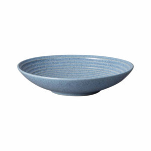 Denby Studio Blue Flint Medium Ridged Bowl