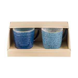 Denby Studio Blue Ridged Mug, Set of 2