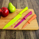 Richardson Sheffield Love Colour Stainless Steel Kitchen Knives Set, Set of 3