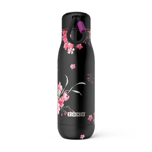 Zoku Midnight Floral Stainless Steel Bottle