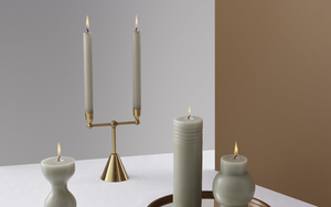 Normann Copenhagen 'Block Candle Column Antique Celadon'