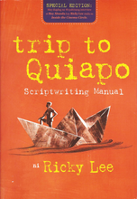 Load image into Gallery viewer, Trip To Quiapo Scriptwriting Manual Special Edition by Ricky Lee available here at Avenida