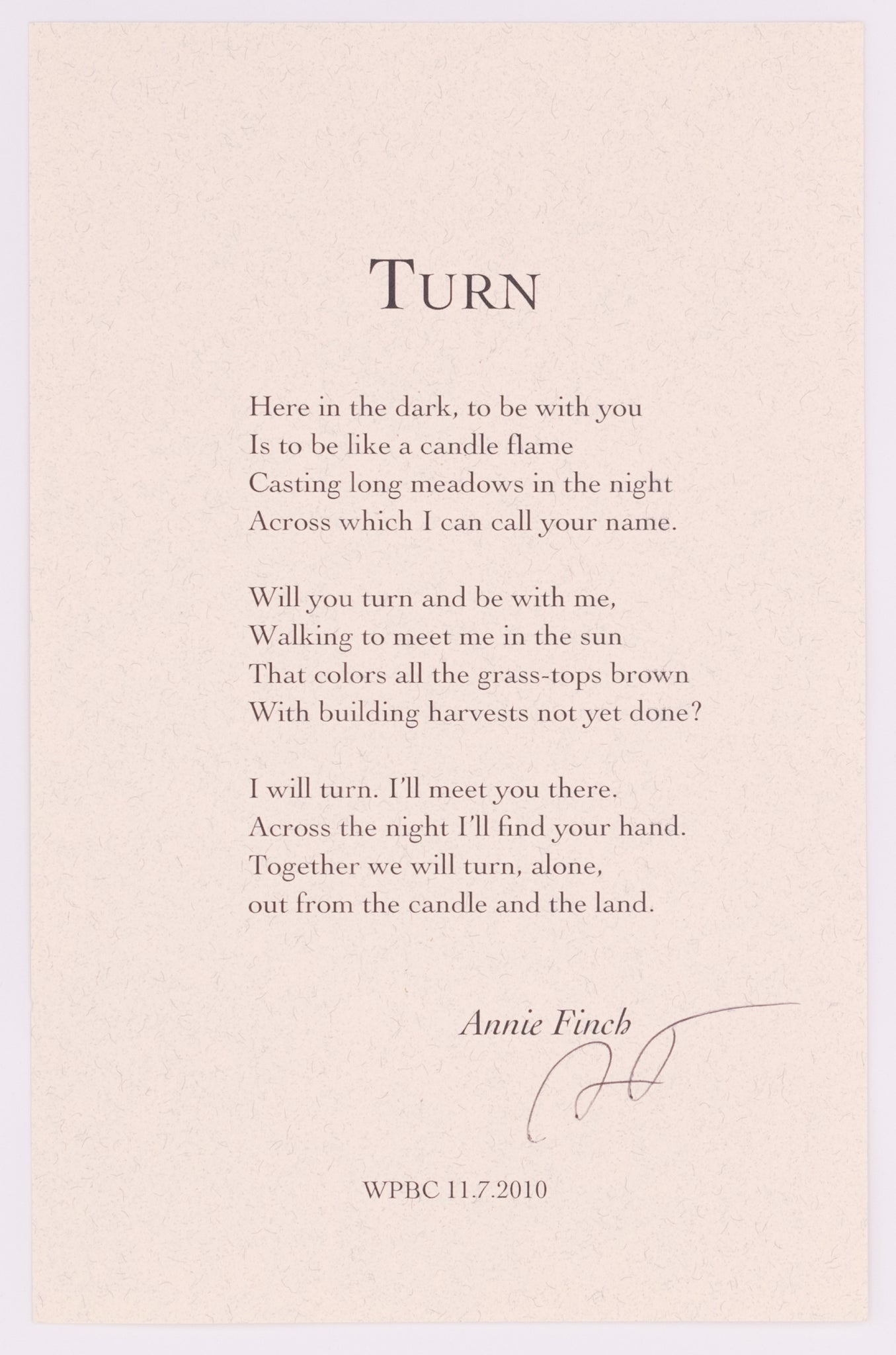 Turn by Annie Finch