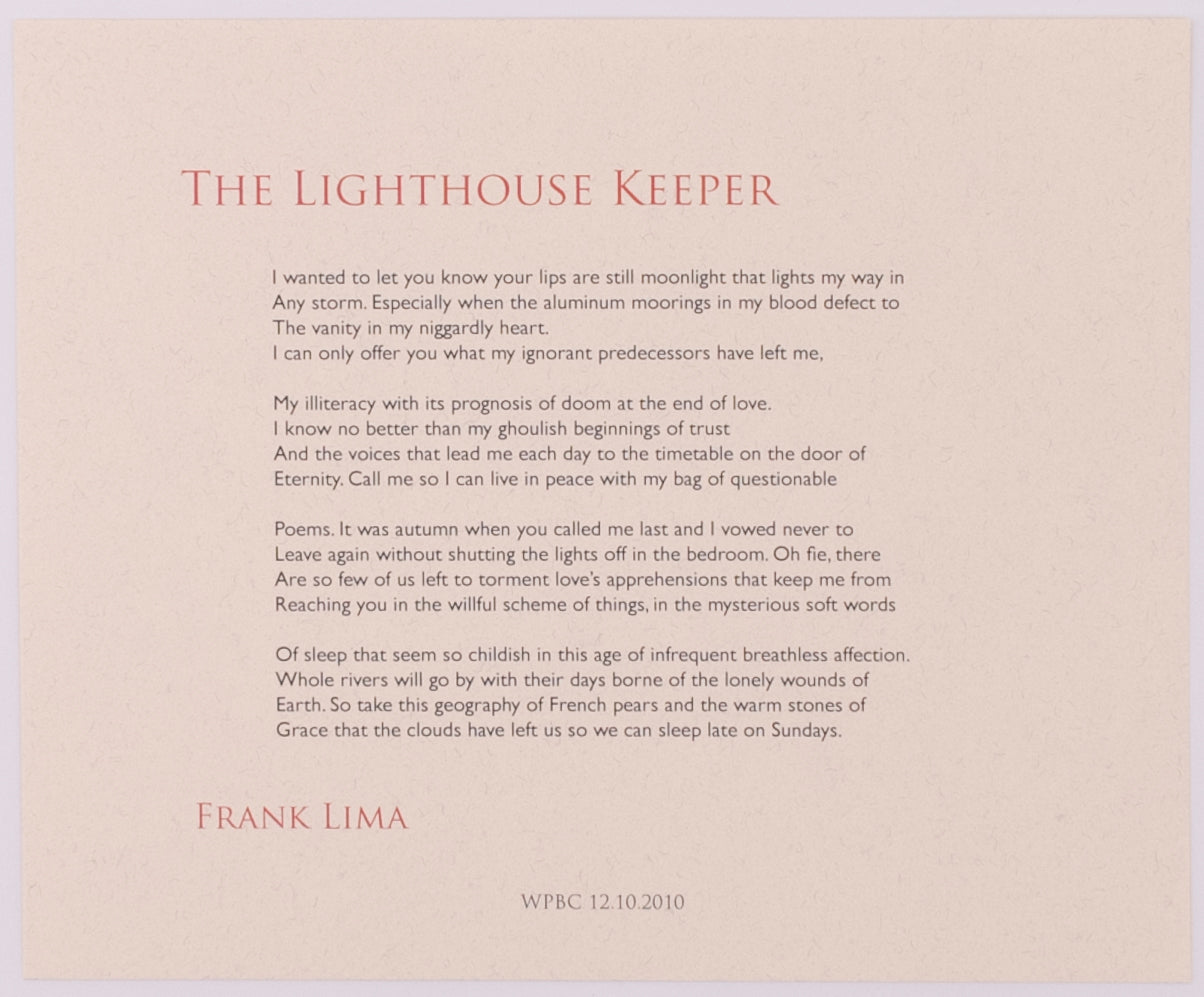 The Lighthouse Keeper by Frank Lima (Unsigned)